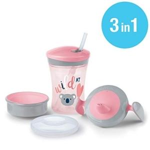 SET DE VASOS EVOLUTION CUP rosa 3 unidades